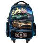 Mochila Rodinhas Speed Car Scc600102 Preto/azul