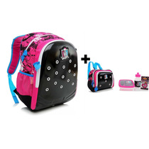 Kit Mochila Escolar Costas Monster High Zoops C/ Lancheira