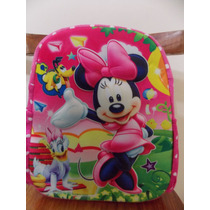 Mochila Escolar Infantil Minnie Miney Costas