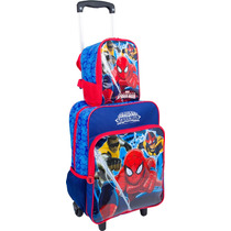 Kit Mochilete Spider Man Homem Aranha + Lancheira- 15m Plus