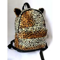 Mochila Escolar_oncinha Leopardo Animal Print_pronta Entrega