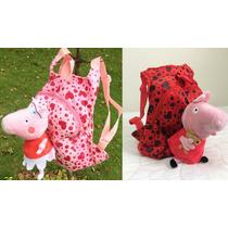 Mochila Luxo Escolar Infantil Peppa Pig Rosa - Importada