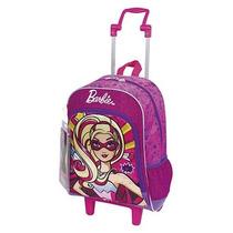 Mochila Rodinhas Infantil Barbie Super Princesa M C/máscara