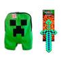 Mochila Do Minecraft Creeper Jogo + Espada De Diamante