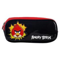 Estojo Angry Birds C/ 2 Divisórias Ref. Abe503103