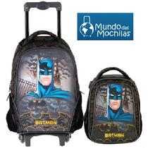 :mochila C/ Rodinha Batman Night + Lancheira Batman Night