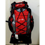 Mochila Sports Impermeável, 63 L, Camping - Vermelha