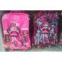 Kit Mochila Monster High 3d Lancheira, Estojo Pronta Entra