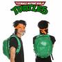 Mochila Escolar Mochilete 3d Tartarugas Ninja