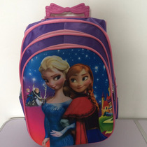 Mochila De Rodinha Frozen Infantil + Bolsa Brinde