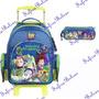 Mochila Escolar Rodinha Toy Story Grande