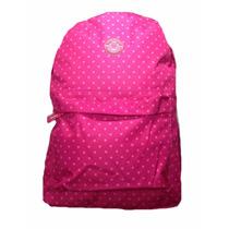 Mochila Escolar Feminina Clio Rosa Bolinhas Poá - Promoção