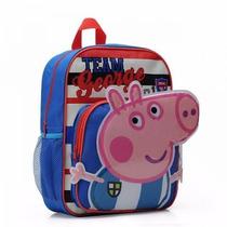 Mochila Infantil Escolar Peppa E George Pig Novas