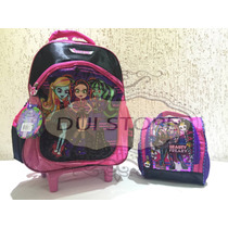 Kit Infantil Mochila E Lancheira Monster High