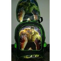 Mochila De Carrinho Hulk Vingadores E Lancheira Térmica