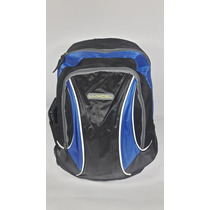 Mochila Moto Ciclista Luxcel Trabalho Curso Azul Preta 18 L