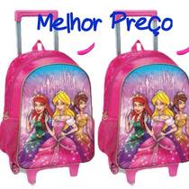 Mochila Escolar Infantil Menina Princesas Frete Barato
