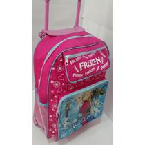 Mochila Escolar Personagen Infantil Com Rodinhas Princesa
