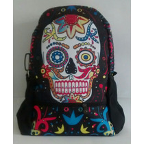 Mochila Caveira Mexicana Rock Notebook