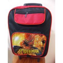 Mochila Escolar Infantil Spider Man Homem Aranha Rodinhas