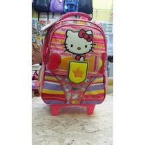 Mochila De Rodinhas Hello Kitty Original Sanrio