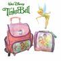 Jogo Completo Mochila Lancheira Tinker Bell Disney Rodinhas