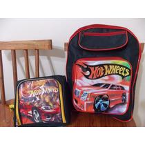 Kit Escolar Batman Hot Wheels Costas + Lancheira