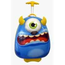 Mochila Carrinho Infantil Escolar - Monstro
