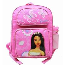 Médio Backpack Barbie W / Garrafa De Água Da Borboleta 310