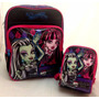 Kit Monster High Original : Mochila De Costas + Lancheira