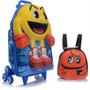 Mochila De Rodinhas Infantil Masculina 3d Pacman Max Toy