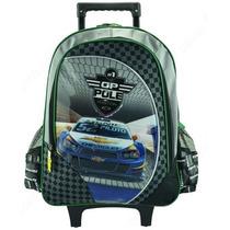 Mochila C/ Rodinhas Carro Sonic Licenciada Chevrolet Menino