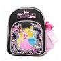 Mini Backpack Princesa W / Garrafa De Água Preto 35395-2