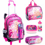 Kit Mochila Mochilete G Barbie Rock Royals - Sestini
