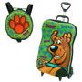 Mochila Com Carrinho 3d Scooby Doo + Lancheira - Maxtoy Dip