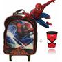 Mochila C/ Rodinhas Spider Man + Copo Personalizado!