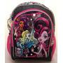 Mochila Grande Costas Luxo Monster High Original Com Espelho