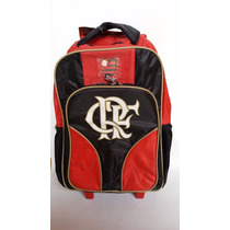 Mochila Flamengo C/ Rodinhas Xerius Infantil Original