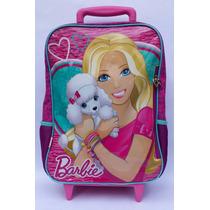 Mochila Barbie Escolar Feminina C/roda 14m Sestini