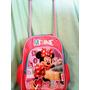 Mochila Escolar Com Rodinha Minnie Disney
