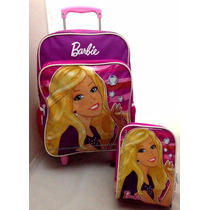 Kit Escolar Barbie Original : Mochila Rodinhas + Lancheira