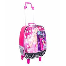 Mala Mochila Escolar Barbie Rock N