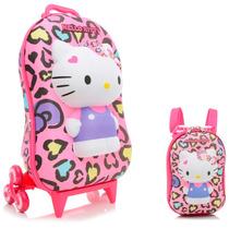 Mochila Escolar Infantil Diplomata Hello Kitty + Lancheira