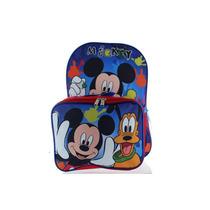 Mochila Disney, Mickey Mouse Azul, C/lancheira - 055041