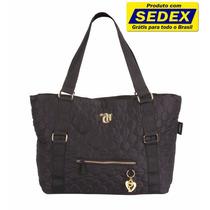 Bolsa Shopping Bag Capricho Love Black Frete Gratis Brasil