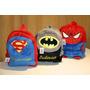 Mochila De Crianca Batman, Super Homem, Homem Aranha Und