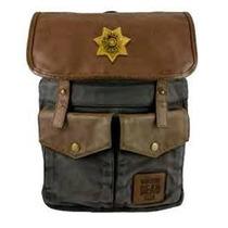 Backpack The Walking Dead Sheriff Preto De Rick Twd-l123