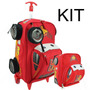 Kit Mochilete + Lancheira Carros 3d Disney Relampago Mcqueen