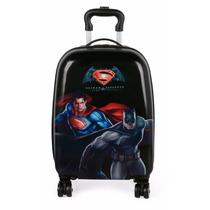 Mochila Mala Rígida Infantil Masculina Superman/batman 360