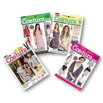 Coleção Corte, Costura E Modelagem - 4 Revistas Com Moldes